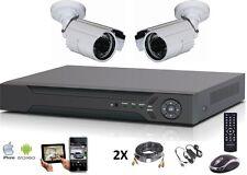 Kit vidéo surveillance AHD 1080P + enregistreur 4 voies + 2 caméras étanches