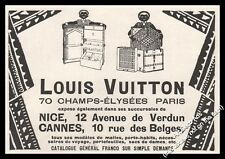 1924  Louis Vuitton Luxury travel trunk Luggage Black Groom vintage print ad -Z1