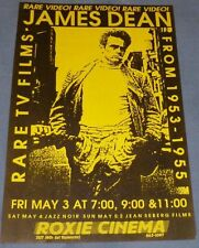 JAMES DEAN RARE TV FILMS FROM 1953-1955 Roxie Cinema Poster May 3 '96 Rare Video