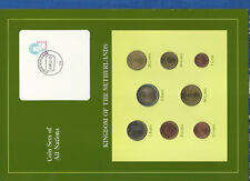 Coin Sets of All Nations Netherlands w/card 1999-2001 UNC EURO 2001 2 Euro 2000