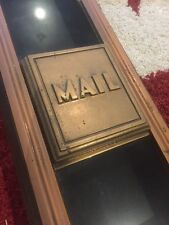 ANTIQUE ORIGINAL PMG GPO MELBOURNE INTERNAL MAIL BOX POST OFFICE STAMP
