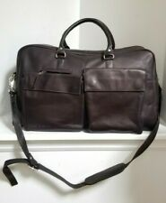 LEXUS BROWN LEATHER DUFFLE Overnight Bag - (21x9x12) FREE SHIPPING!!!