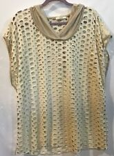 NWT Easel Pink Ivory Tie Dye Cold Shoulder Adjustable Straps Relaxed Top S M L
