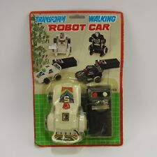 Transform Walking Robot Car Vintage Toy MOC Sealed NEW Taiwan Battery Operated