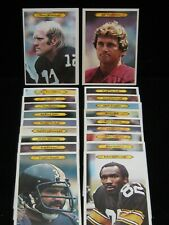 """1980 Topps NFL Jumbo Player Cards 5""""x7"""" #1 to #29 ....  use the drop down menu"""