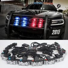 16x 2 LED Red White Police Car Truck Flash Strobe Light Wireless Remote Control