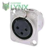 10 (TEN) x Neutrik NC3FD-L-1 Female XLR Chassis Connector - 3 PIN Socket NC3FDL1