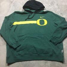 NIKE OREGON DUCKS Hoodie Sweatshirt XL Authentic Team Logo Chenille Patch