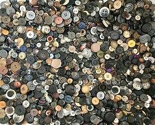 2.25+ lbs Black Grey Brown Buttons Assorted Vintage Antique Collect Crafts Sew B