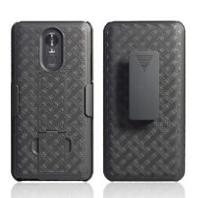 LG Stylo 4 Belt Clip Holster Combo Armor Cell Phone Case With Kick Stand Cover