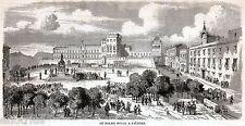 PALERMO: Palazzo dei Normanni.Sicilia.Trinacria.Risorgimento. Stampa Antica.1860