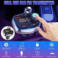 FM Transmetteur Radio sans fil bluetooth Lecteur MP3 USB Chargeur Mains Libres