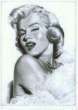 Marilyn Monroe Celebrity sexy fanart Portrait Original Art by Adriano Altamir