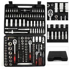 """171 Pcs Tool Kit 1/2"""" 1/4"""" 3/8"""" Socket Wrenches Set Screwdriver Rachet Driver"""