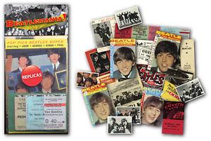 Beatlemania Memorabilia Gift Pack with over 20 pieces of Replica Artwork