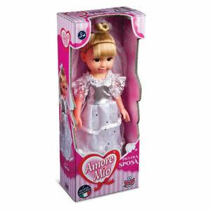 Bambola AMORE MIO PICCOLA SPOSA con Vestito in Tessuto  Grandi Giochi