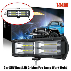 1X 12-24V 144W Work Light Flood Spot Beam Offroad Boat SUV Driving LED Fog Lamp