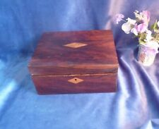 More details for antique victorian/edwardian small writing slope, parquetry, tunbridge ware