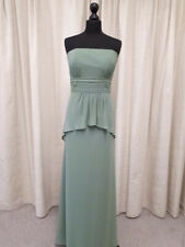 Alfred Angelo 7259 prom, evening, bridesmaid dress in clover green size 16