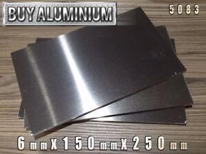 6mm Aluminium Plates / Sheets 150mm x 250mm - 5083
