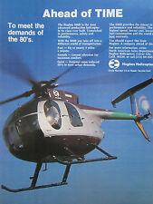 2/1980 PUB HUGHES HELICOPTERS CULVER CITY HUGHES 500D HUBSCHRAUBER ORIGINAL AD