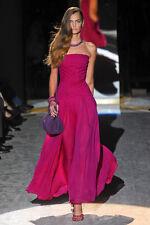 NWT $6300 Salvatore Ferragamo Magenta Pink Gown Silk Long Dress 38 2 4  Runway