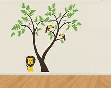 Large Lion Tiger Eyes Cat Jungle King Wall Art Stickers Bedroom Paper UK