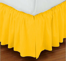 "15"" Drop Dust Ruffle Bed Skirt 800TC Egyptian Cotton STRIPE Twin/Full/Queen/King"