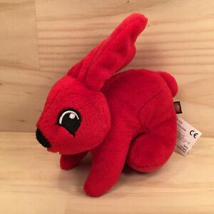 "RUBY THE BUNNY RABBIT ""Red"" Beautiful Little Animal Soft Toy Stuffed Friend LEGO"