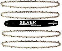 Schwert und 4 Ketten 18''/45cm  325''  1,5  72 TG Silver  passend für Husqvarna