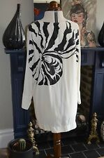 Stella McCartney silk dress size 42 UK10 ivory silk print detail