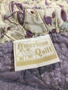 🌸 Vintage  American Patchwork Quilt 96 X 104 inch