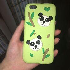 Handmade Panda iPhone 6s Plus Case Art Polymer Clay Bamboo Cute Adorable Gift
