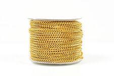 El aclaramiento Chapado en Oro 3 mm cadena de aluminio para la fabricación de joyas - 50 metros