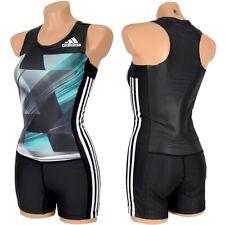 adidas AdiZero Leotard Damen Laufanzug Sport Body Overall Training Anzug schwarz