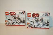 2x STAR WARS LEGO 8084 _ SNOWTROOPER BATTLEPACK _ UNGEÖFFNET _ NEU _ NEW