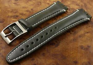 Bracelet montre SWATCH Cuir Vert - Large - B7B-37