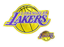 """LA Lakers XL & SMALL High Quality Embroidered Patch 11""""x7"""",3.5""""x2"""""""