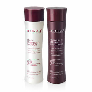 Keranique Color Boost Hair Growth Shampoo and Conditioner Set with Keratin, 8 OZ