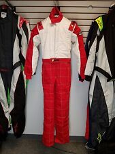 Sparco/Lico Racing Suit Red/White    Size Small 52    SFI and FIA Rated     New