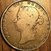 1872H CANADA SILVER 50 CENTS COIN