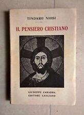 IL PENSIERO CRISTIANO NIOSI 1932 APOLOGISTI CRISTIANI