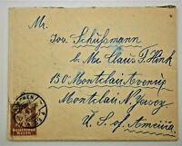 1925 German Cover - Munich to Montclair, New Jersey, USA,