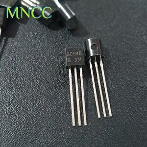 2/5/10/20pc BC548 30V 100mA 500mW NPN Switching Applications Transistor TO-92
