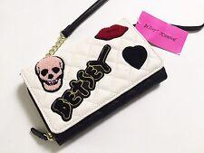 NWT Betsey Johnson Crossbody Bag Wallet on a String Skull Lips Rockabilly Heart
