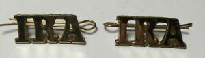 IRISH WAR OF INDEPENDENCE REPUBLICAN CYPHER BADGES 1919-1921 a pair