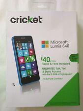 Brand New Microsoft (Nokia) Lumia 640 LTE - 8gb - Blue/Cyan - CricKet Wireless