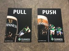Guinness Stickers Door Push/Pull *Rare*