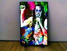 Alice Cooper Art on Rock Slate 8x6 inch Rare Collectables Memorabilia Music