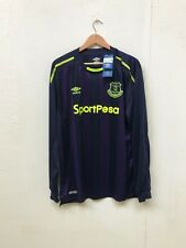 Umbro Men's Everton FC 2017/18 LS Third Shirt - 3XL - Navy - New